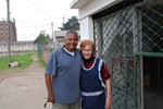 Dave with Sister Dora at Nueva Vida Bernal Argentina Church 2008